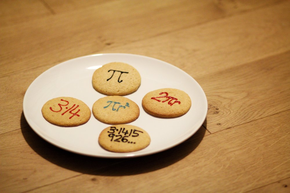 30th March - baking and decorating pi-themed sugar cookies by   Minimalist Baker   for my Maths teacher's last day