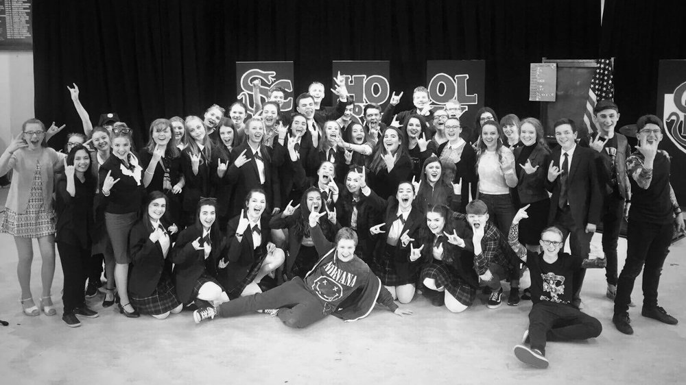 11th October - cast, crew and band for  School of Rock