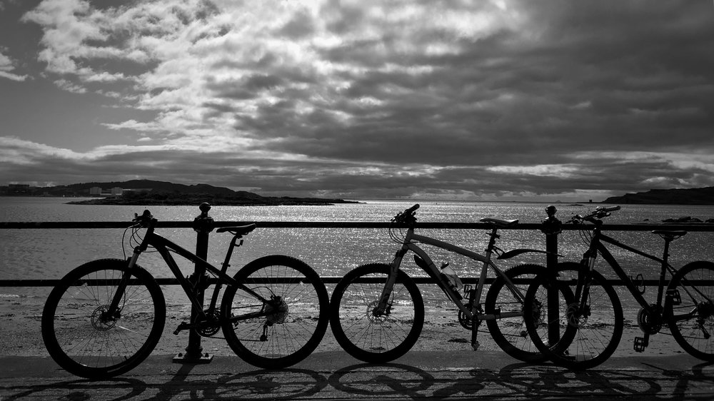 bicycles at Millport