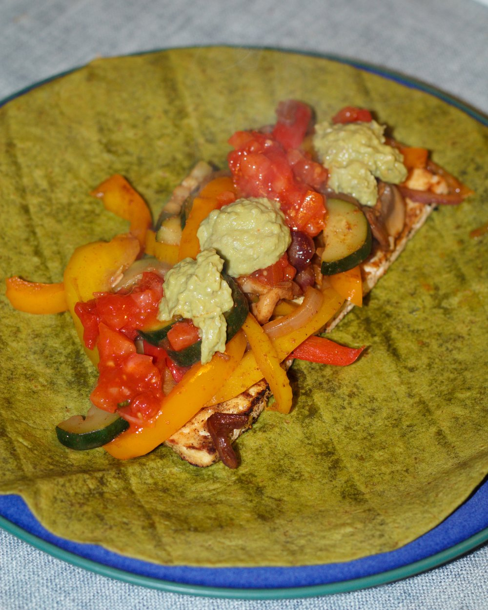 assembled fajita 1 (spinach wrap)