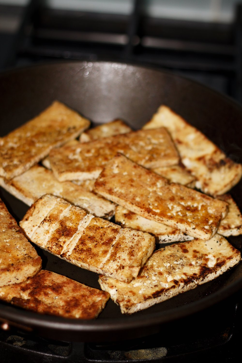 seasoned tofu strips