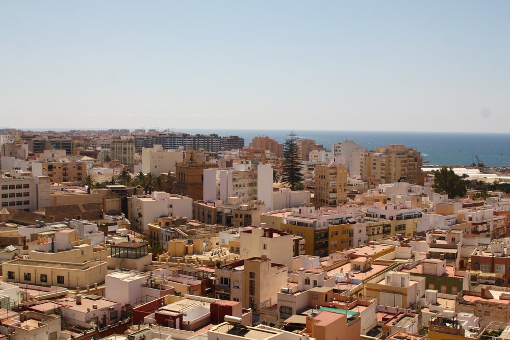 view of Almería from the Alcazaba