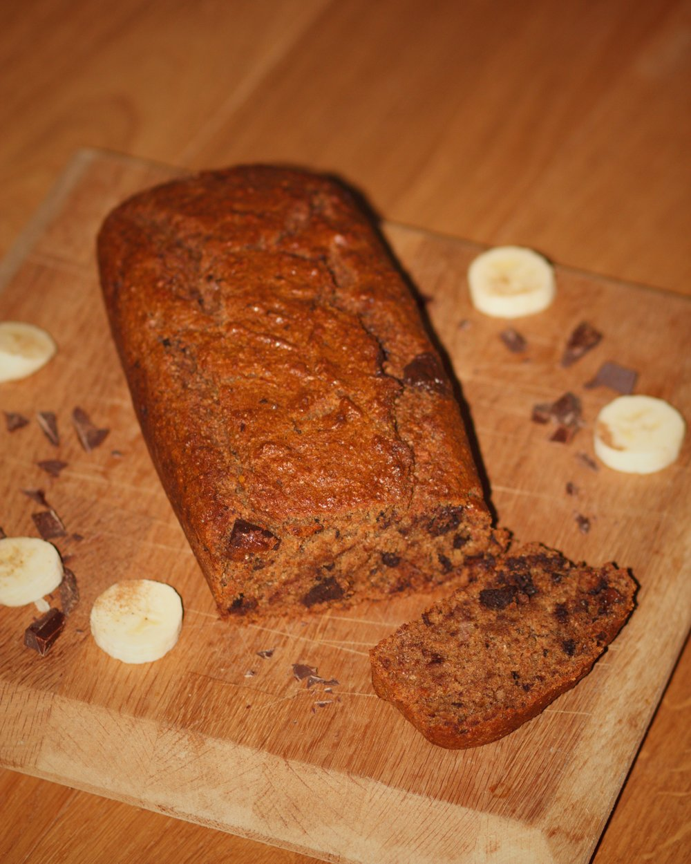 vegan choc chip banana bread