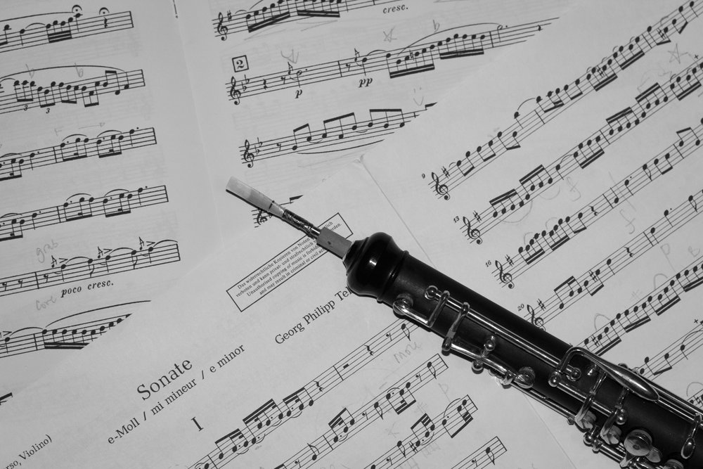 oboe and sheet music