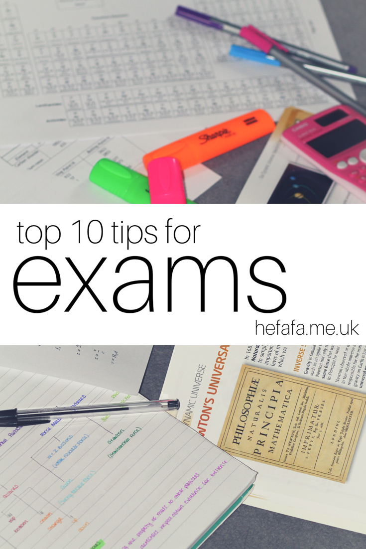 top 10 tips for exams - hefafa.me.uk