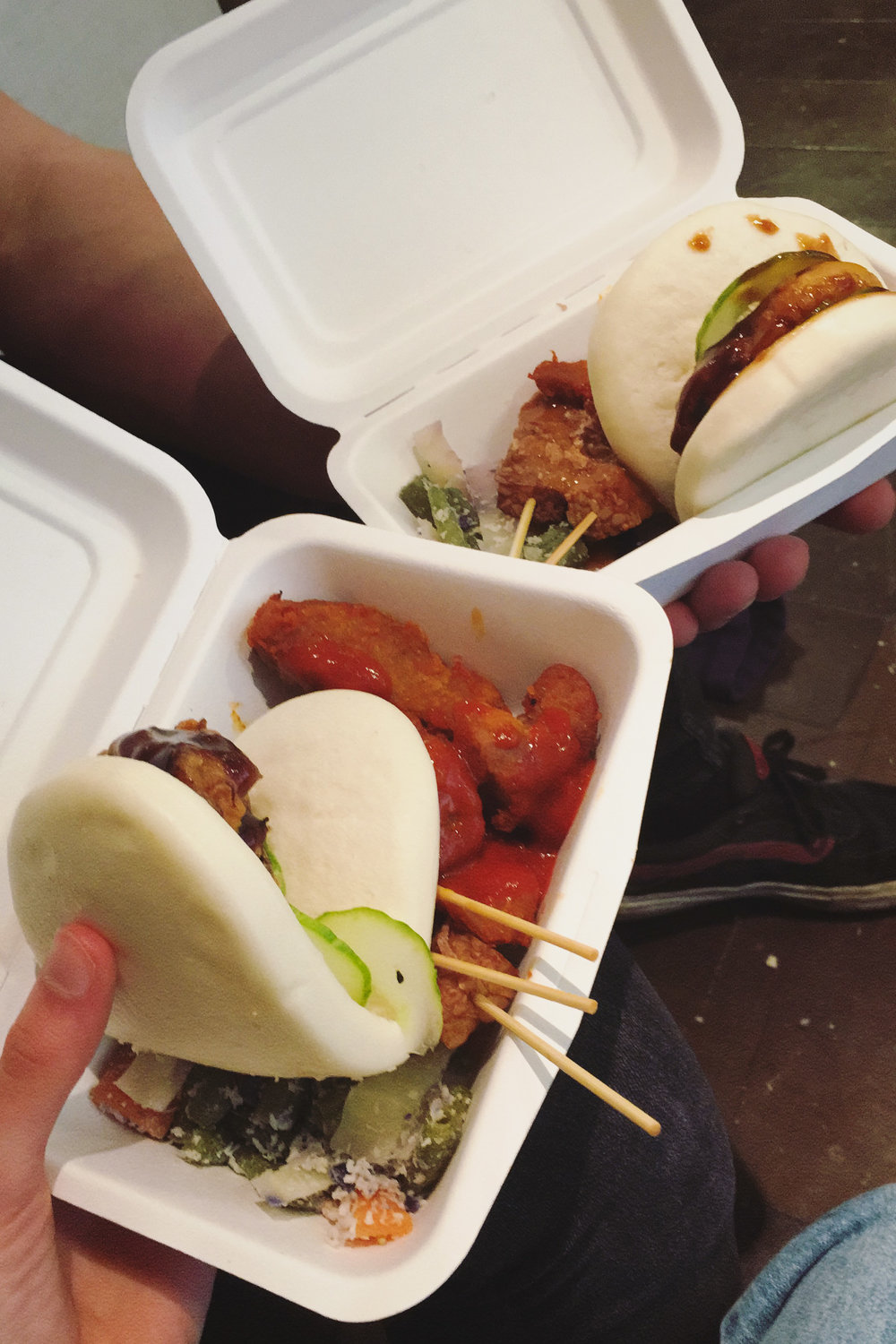 Eastern-style munchie boxes at Glasgow Vegan Festival