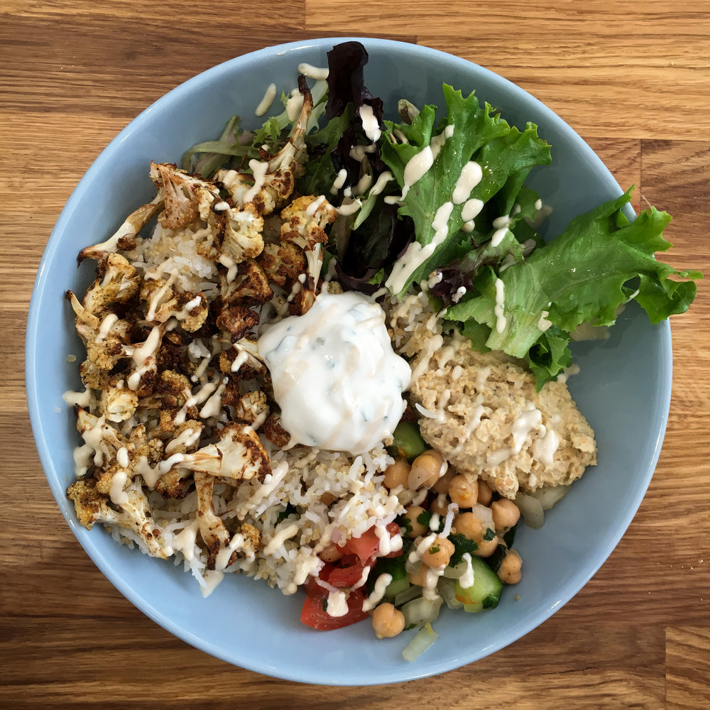 cauliflower shwarma bowl from Serenity Now
