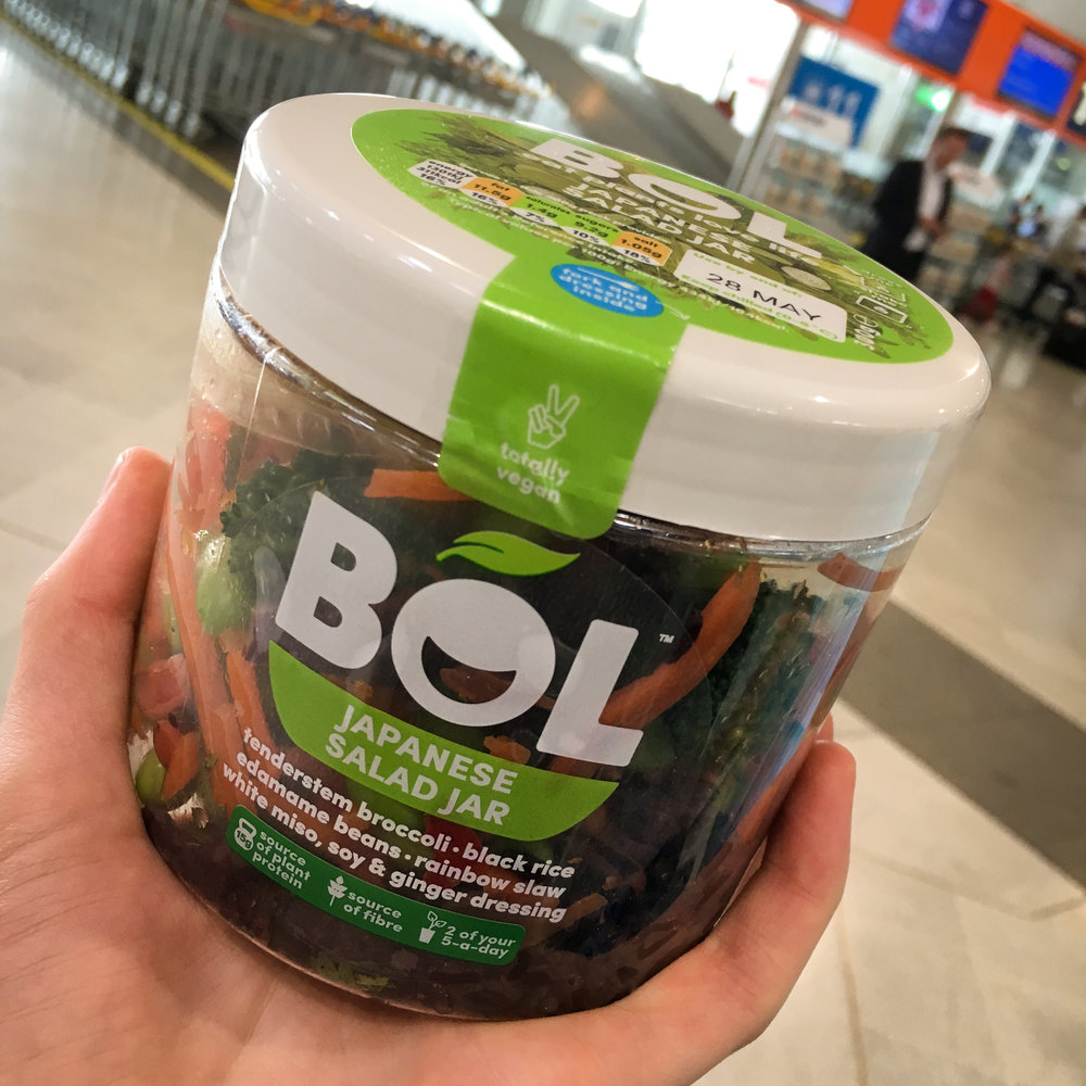 BOL Japanese salad jar from WH Smith at Glasgow Airport