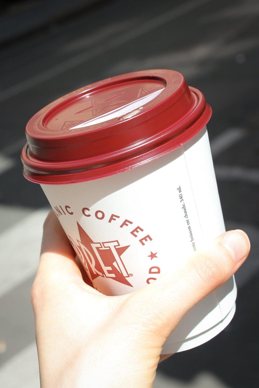 soya latte from Pret a Manger