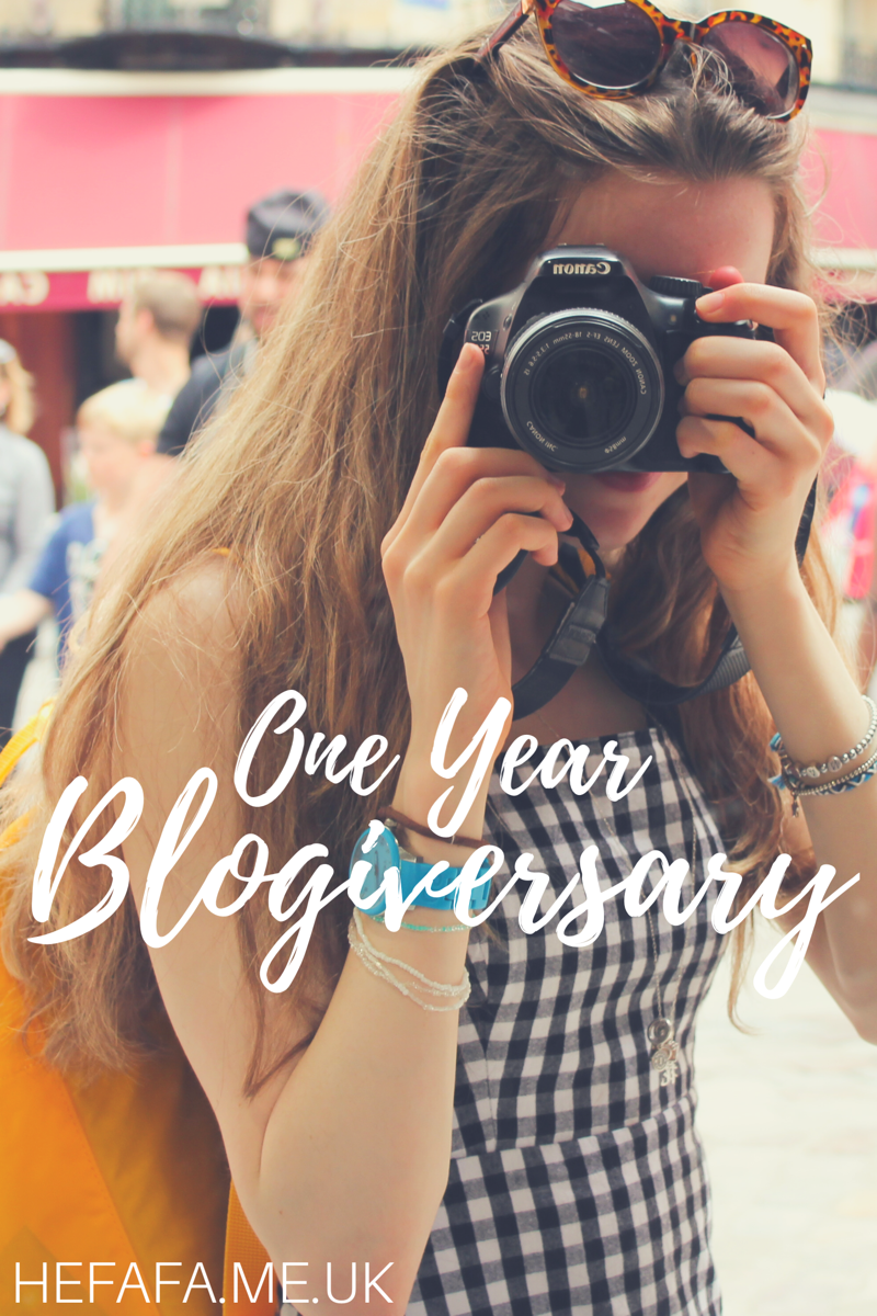One Year Blogiversary - hefafa.me.uk