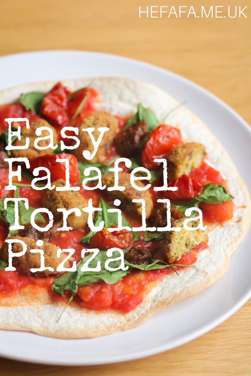 Easy Falafel Tortilla Pizza - hefafa.me.uk