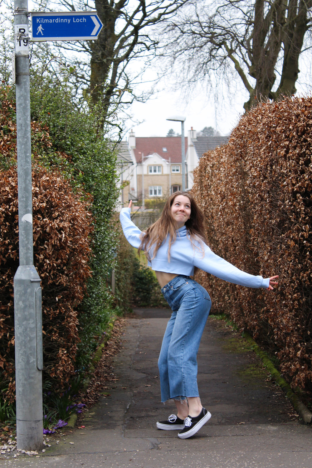 dancing in a lane