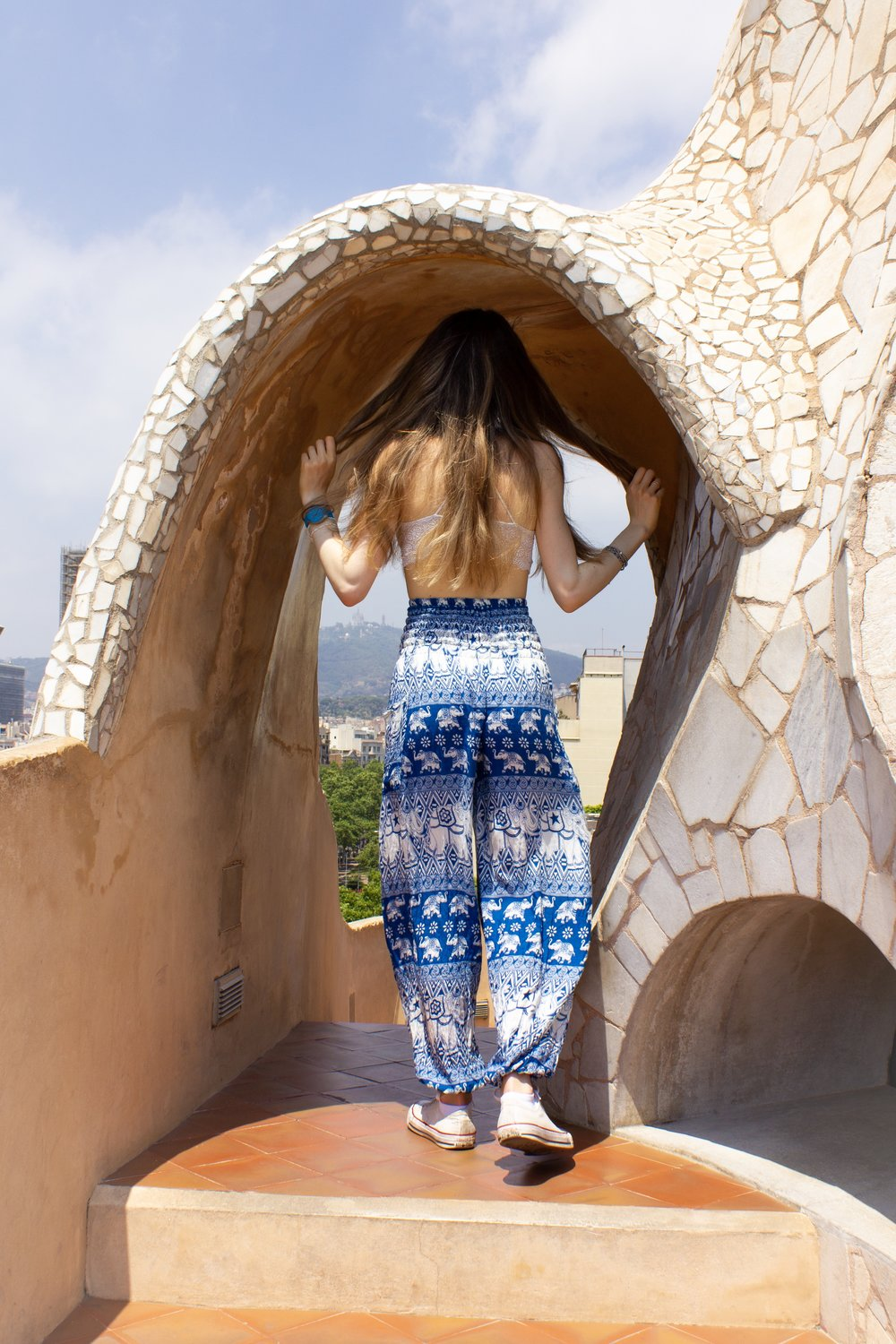 archway on the rooftop of La Pedrera