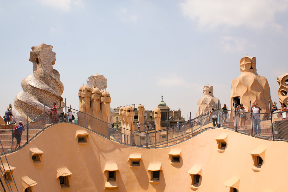 roof of La Pedrera