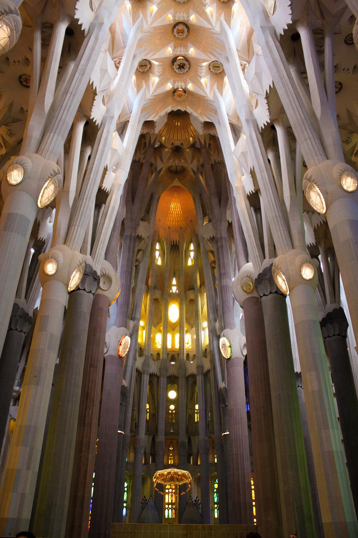 interior of the Sagrada Família