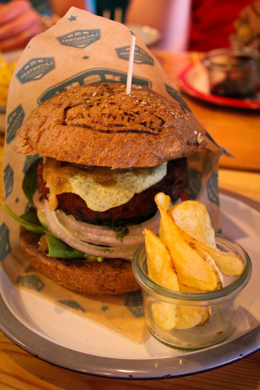 falafel burger from La Central