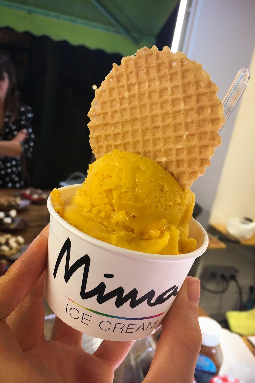 passionfruit ice cream from Mima