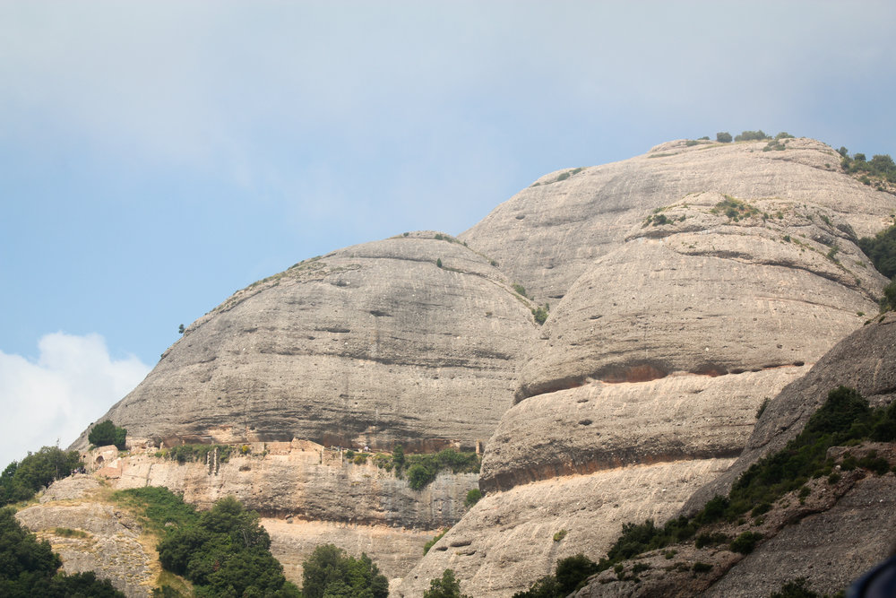 rocky surface at Montserrat