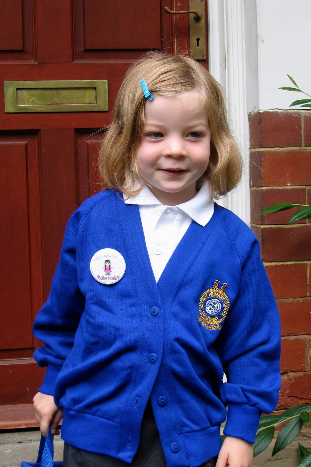 5th September 2005 - first day at primary school