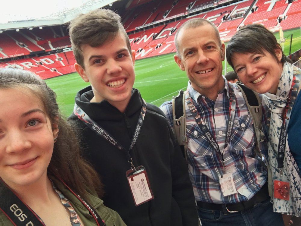 2nd April 2017 - family selfie at Old Trafford