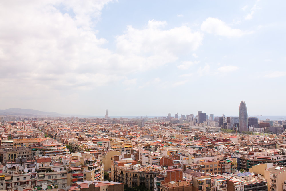 view of Barcelona from the Sagrada Família