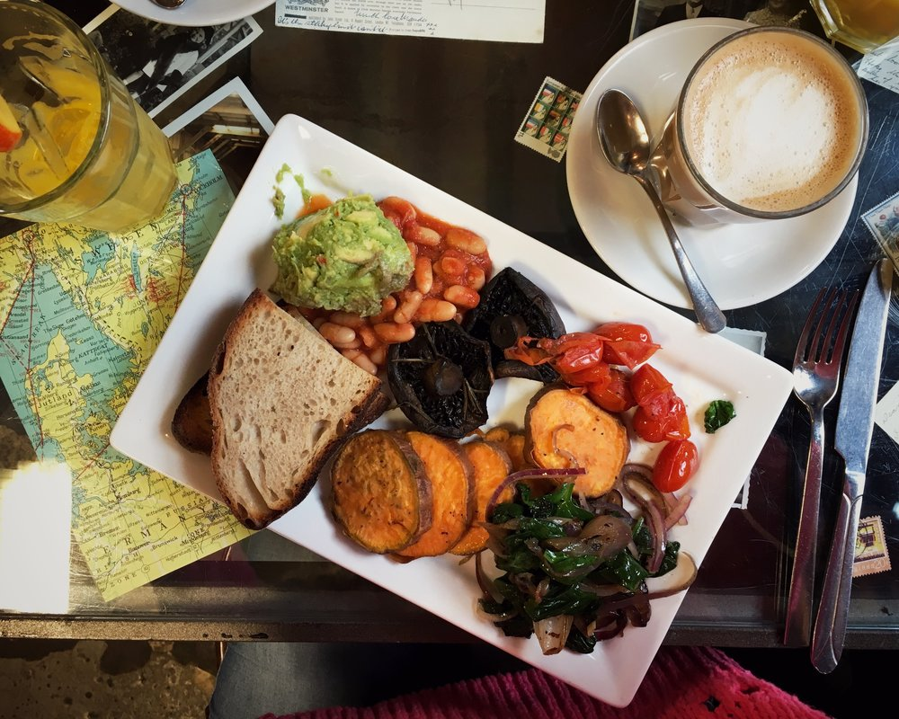 5th January - an amazing vegan cooked breakfast from  Singl-End