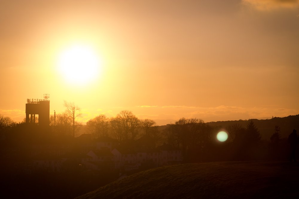 4th February - a beautiful walk around the local reservoir at sunset