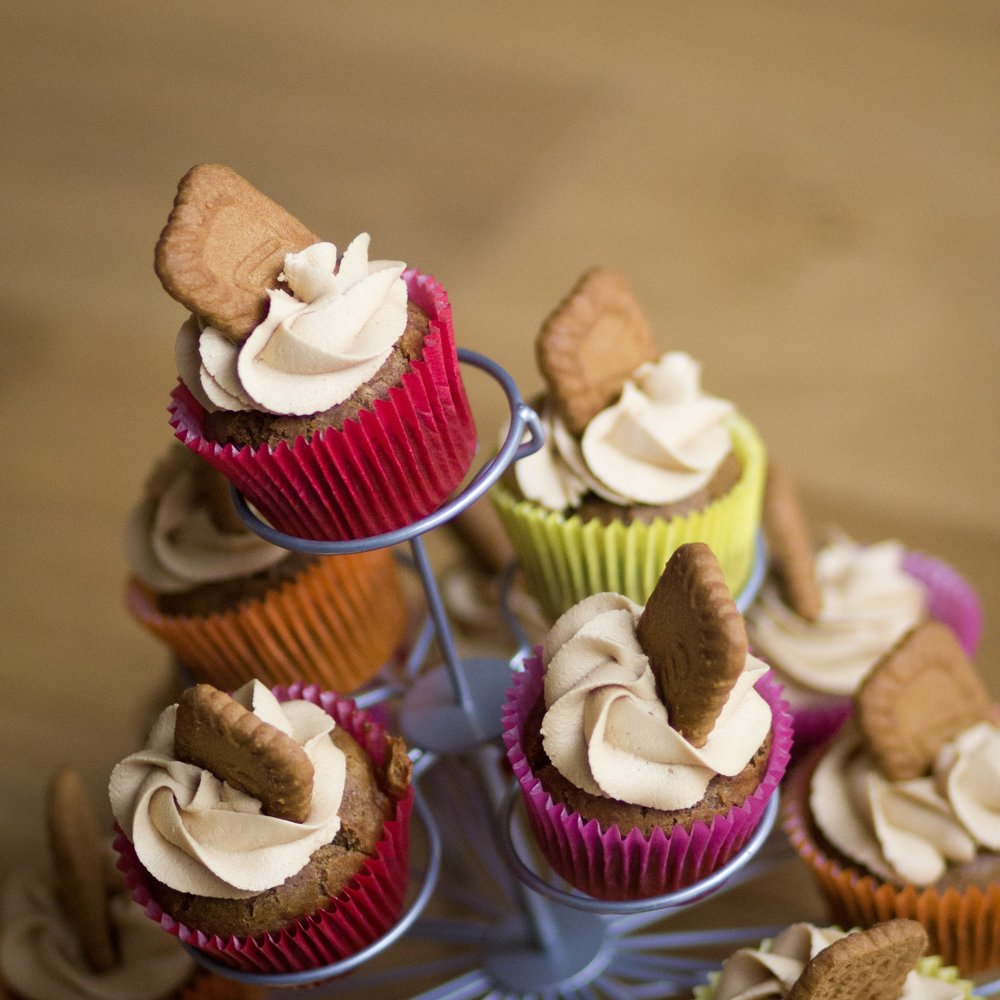 31st March -  vegan Biscoff cupcakes  ( and my first time creating my own cake recipe!)