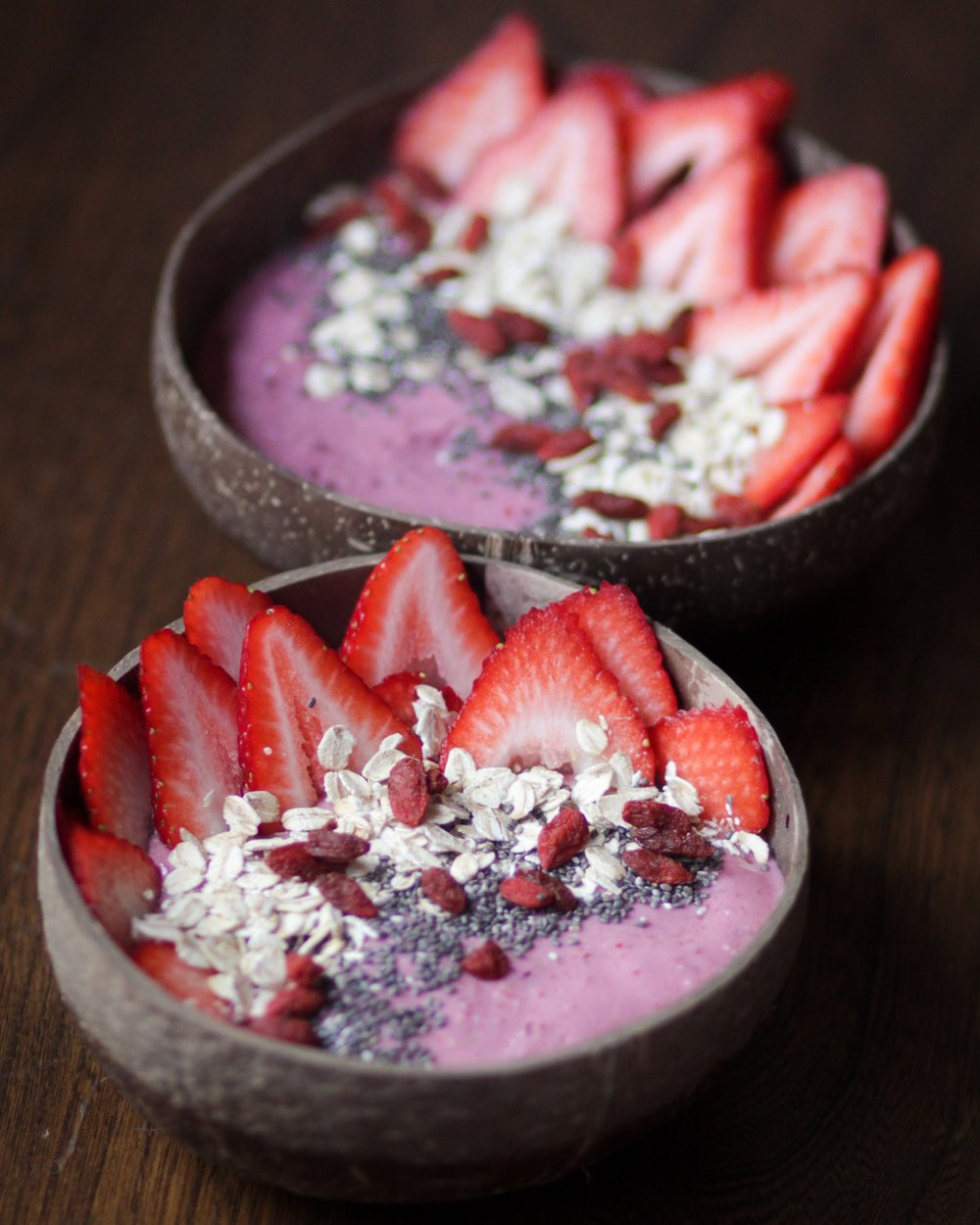 2nd May -  berry oatmeal smoothie bowls  (and my most pinned post ever!)