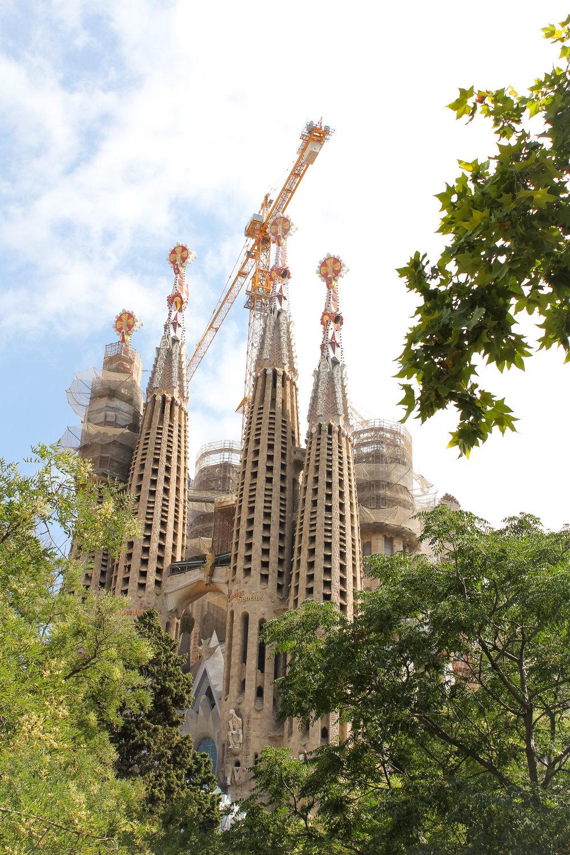 5th July -  La Sagrada Familia  (definitely one of my mum's favourite pieces of architecture)