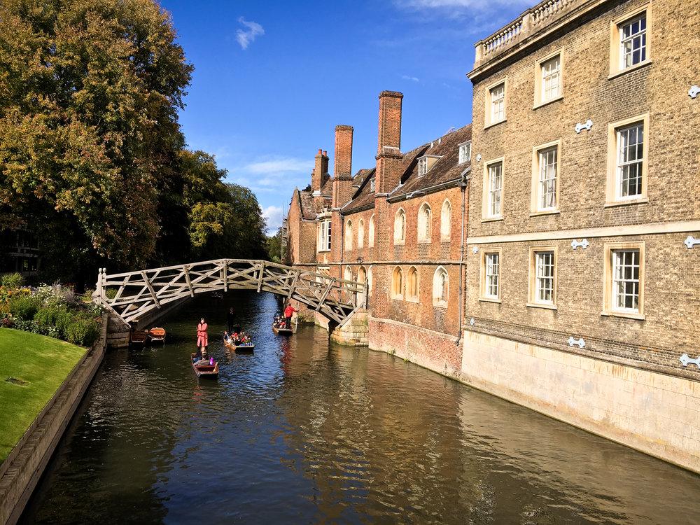 23rd September - the stunning Mathematical Bridge in Cambridge
