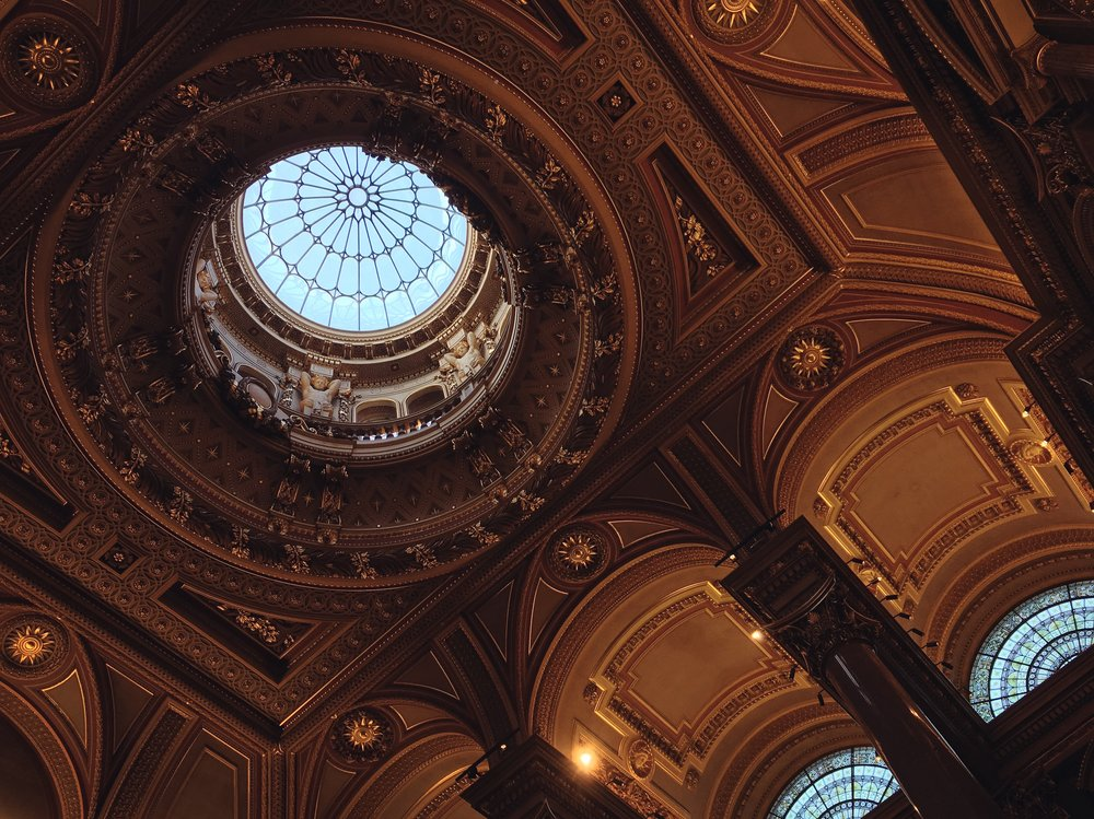 23rd August - the intricate interior of the Fitzwilliam Museum