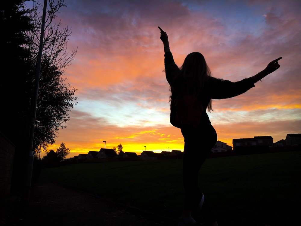 19th October - loving some sunset silhouette photography