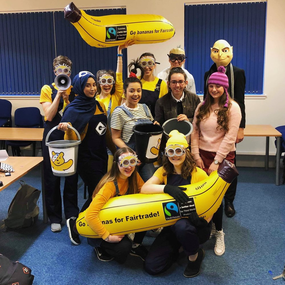 16th November - fundraising for Children in Need dressed as minions!