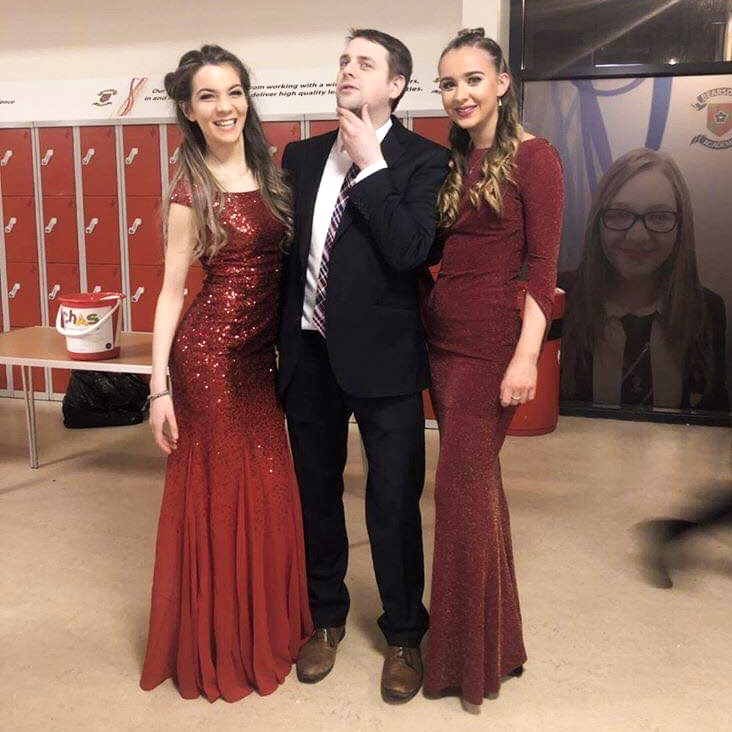 27th November - prom dresses for fashion show and Mr Liddle
