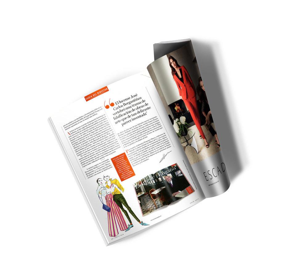 Ilustración para VanityFair en la carta del editor, julio 2017.