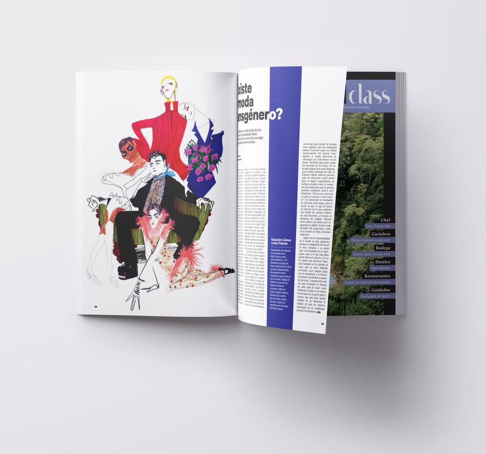 Palomo Spain. Ilustración para Dear magazine. Julio 2017