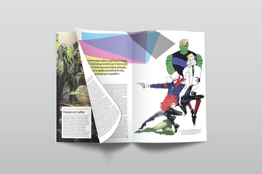 Super Héroes. Ilustración para Dear magazine. Septiembre 2017