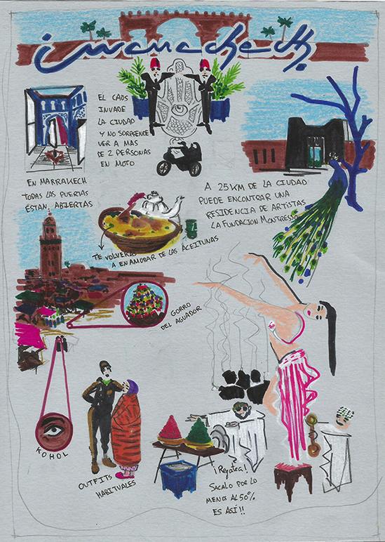 Boceto 2 para Destino ilustrado. Por Ignacio Lobera
