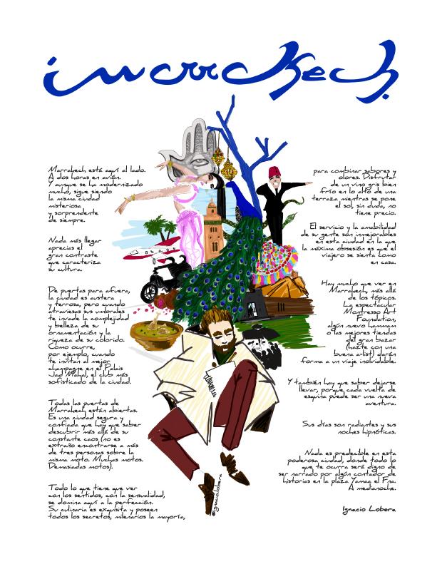 Ilustración de Destino ilustrado. Por Ignacio Lobera
