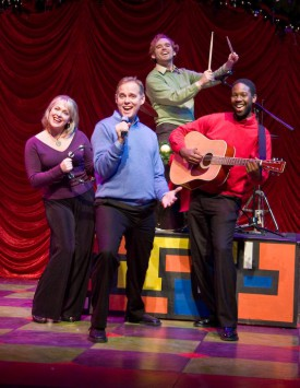 Tod Petersen and the cast of A Christmas Carole Petersen. Photo by Rick Spaulding.