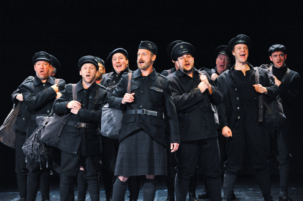 The cast of All is Calm: The Christmas Truce of 1014 Photo by George Byron Griffiths