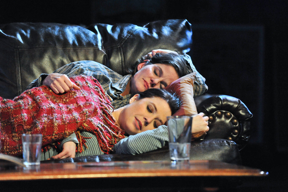 Adelin Phelps as Cassie and Annie Enneking as Thea,  Photo by George Byron Griffiths