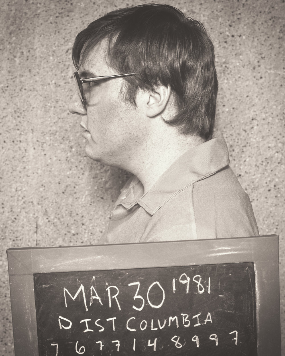 Evan Tyler Wilson as John Hinckley, Photo by Allen Weeks