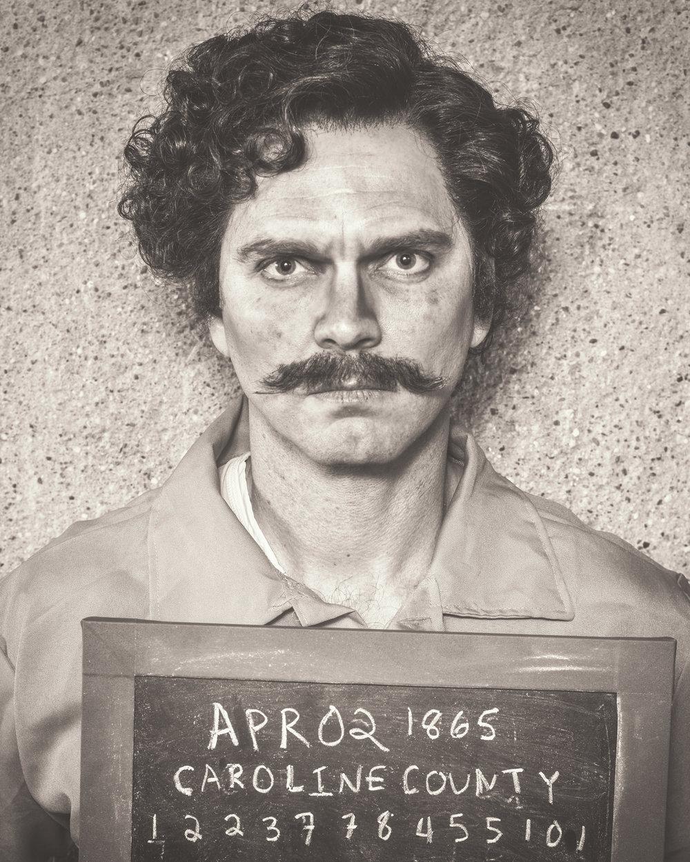 Dieter Bierbrauer as John Wilkes Booth, Photo by Allen Weeks