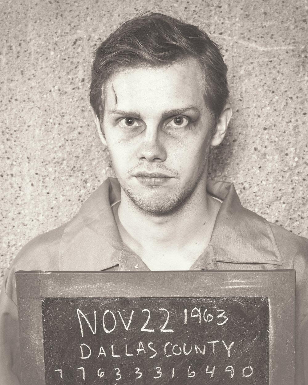 Tyler Michaels as the Baladeer/Lee Harvey Oswald, Photo by Allen Weeks
