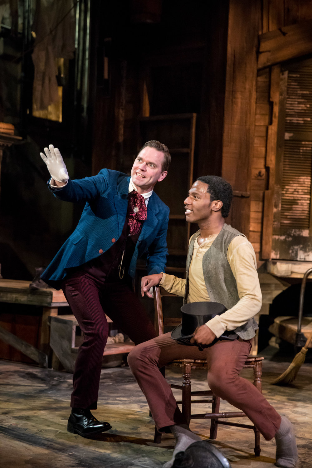 Dieter Bierbrauer (P.T. Barnum) and Lamar Jefferson (Willie Lane), Photo credit: Dan Norman