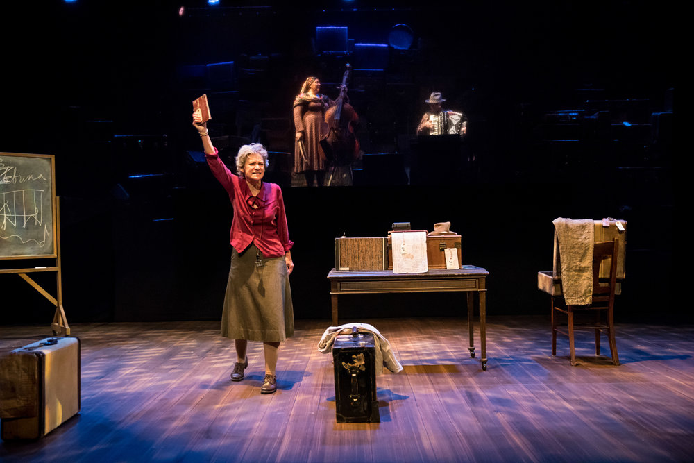 Sally Wingert (The Librarian) in UNDERNEATH THE LINTEL, Photo by Dan Norman