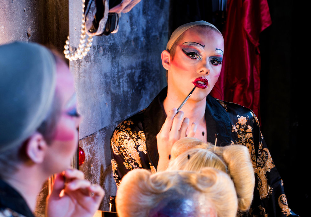 """Theater Latté Da's """"Hedwig and the Angry Inch"""" features cisgender actor Tyler Michaels King as the title character. Photo credit Allen Weeks."""