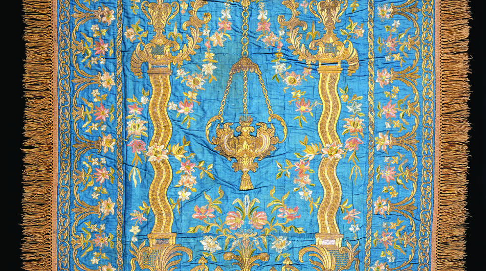 Sacred Vessels and Vestments - Exceptional objects in this gallery reflect the religious heritage of the Armenian people. Embroidered church vestments and altar cloths, elaborate metalwork and ceramic sphere ornaments are featured.